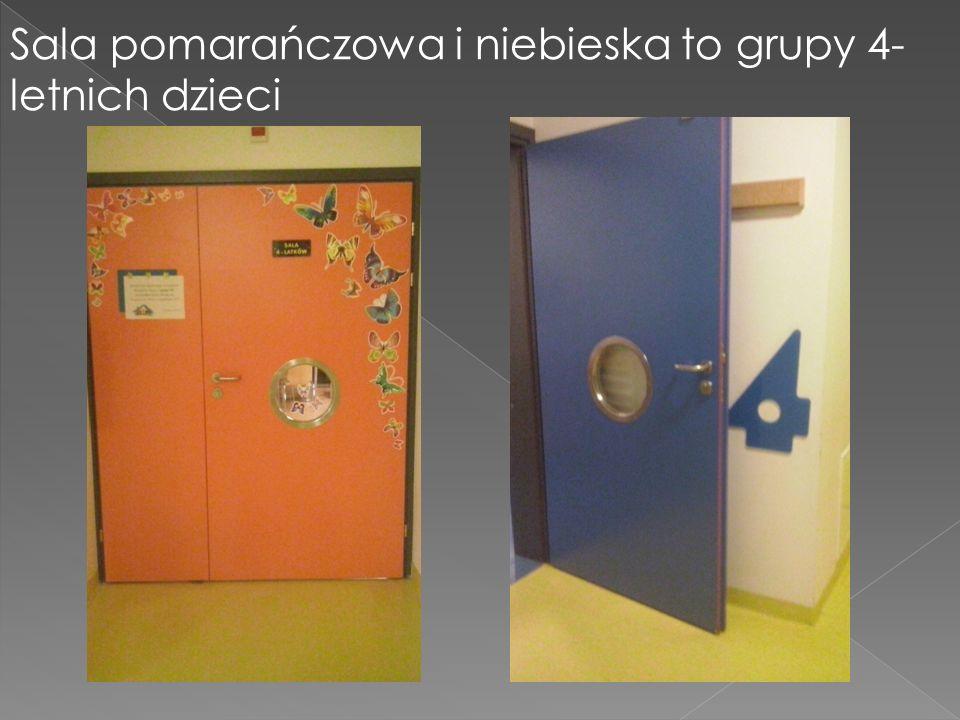 Sala pomarańczowa i niebieska to grupy 4-letnich dzieci