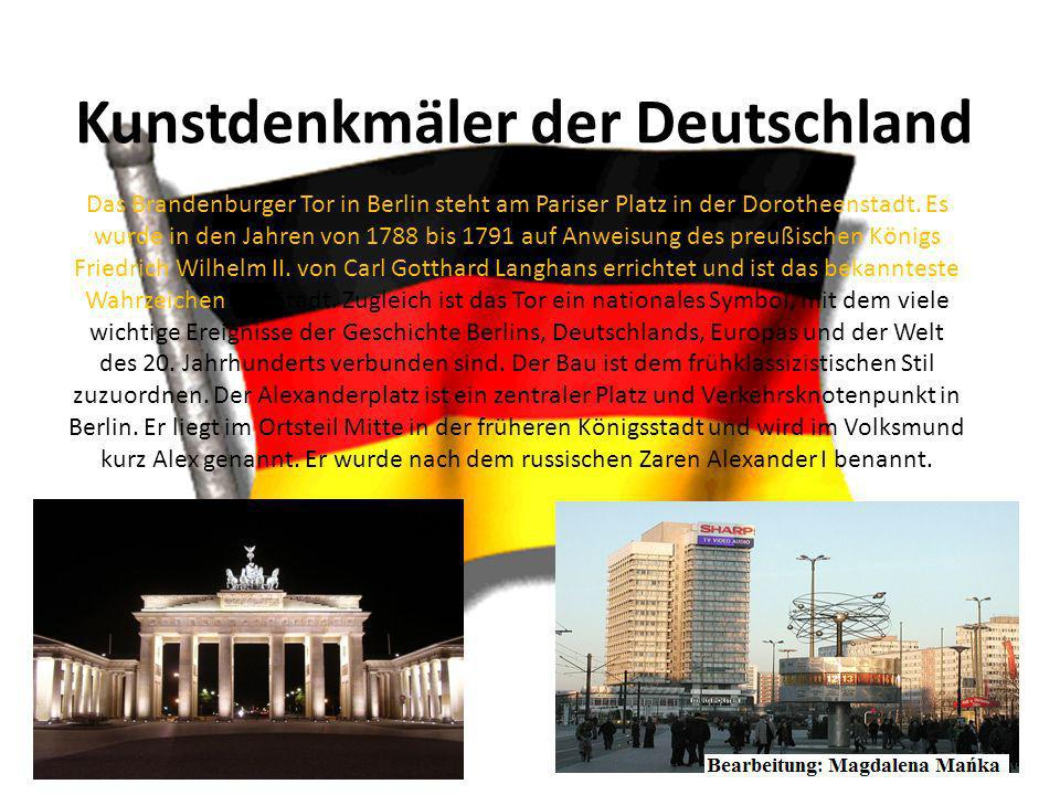 Kunstdenkmäler der Deutschland