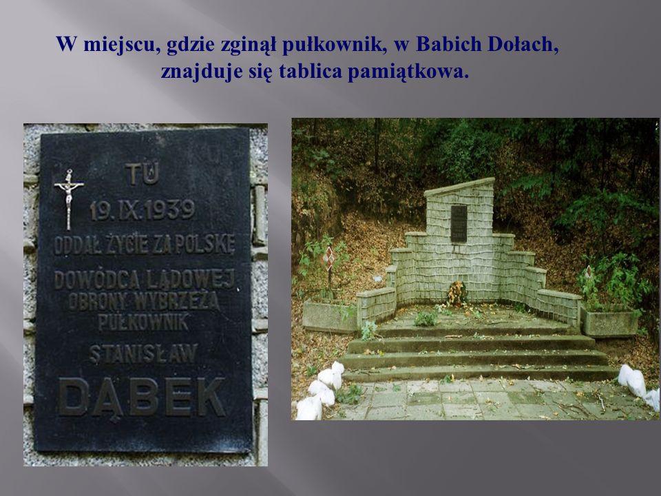 W miejscu, gdzie zginął pułkownik, w Babich Dołach,