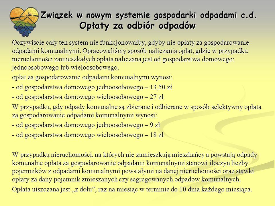 Związek w nowym systemie gospodarki odpadami c. d