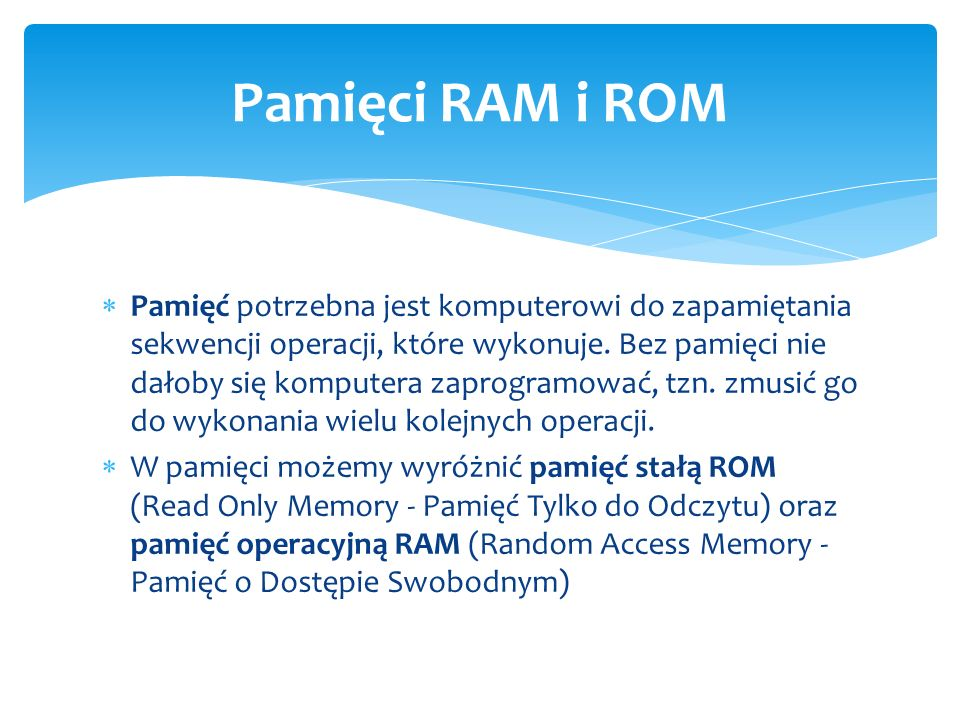 Pamięci RAM i ROM