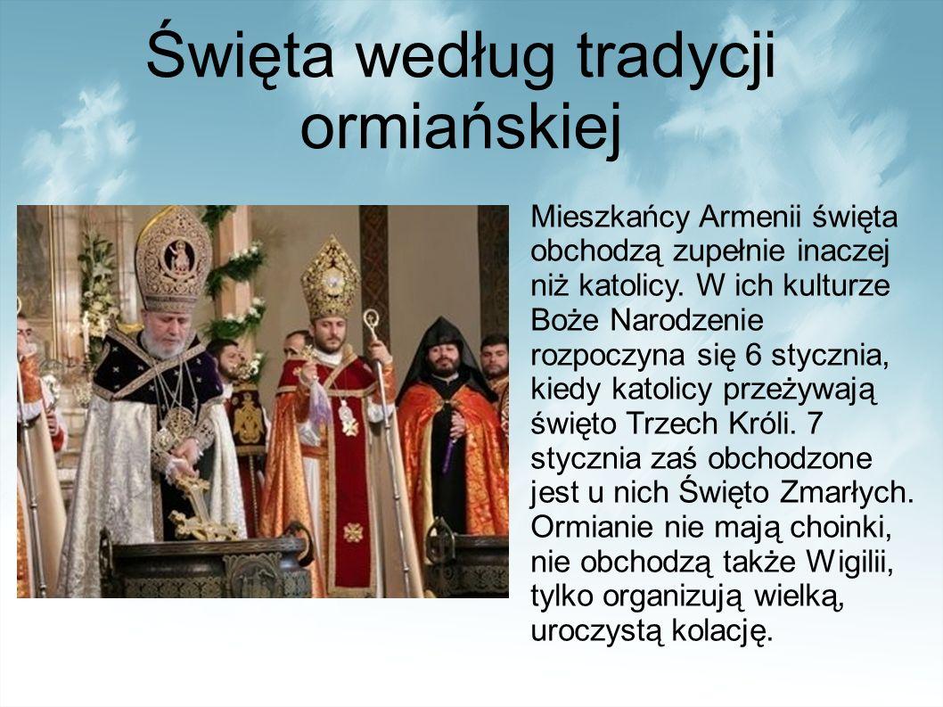 Święta według tradycji ormiańskiej