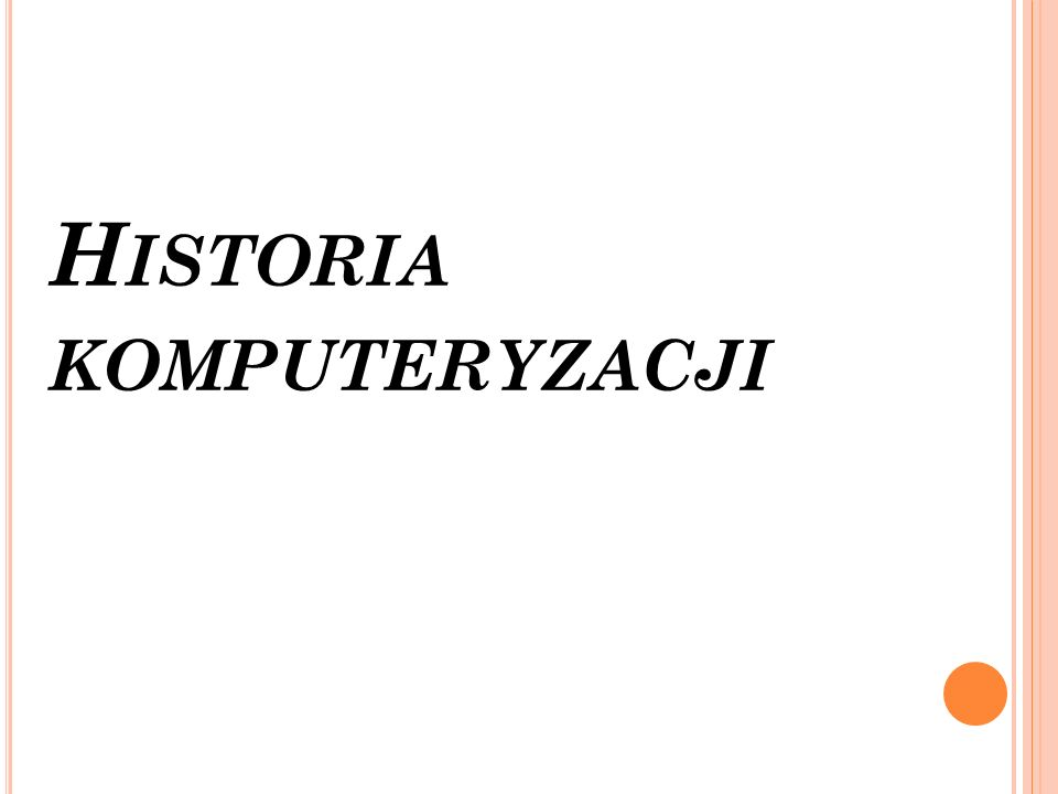 Historia komputeryzacji