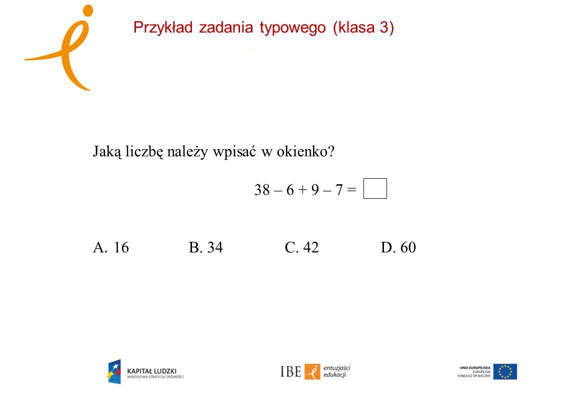 Przykład zadania typowego (klasa 3)