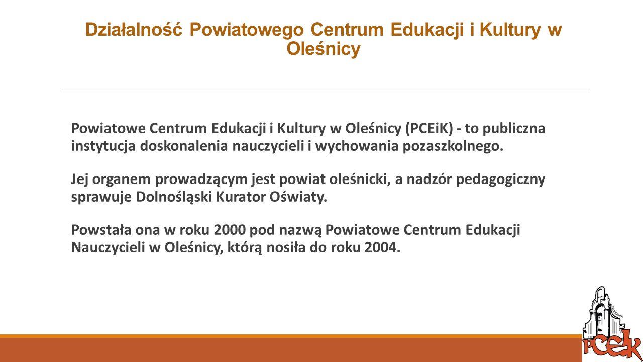 Działalność Powiatowego Centrum Edukacji i Kultury w Oleśnicy