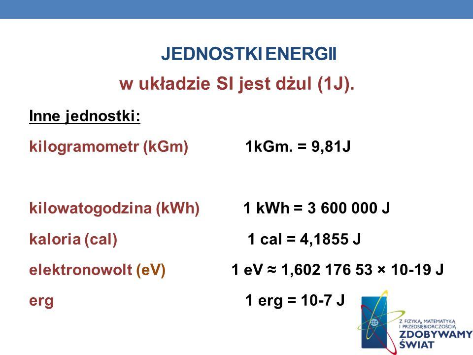 w układzie SI jest dżul (1J).