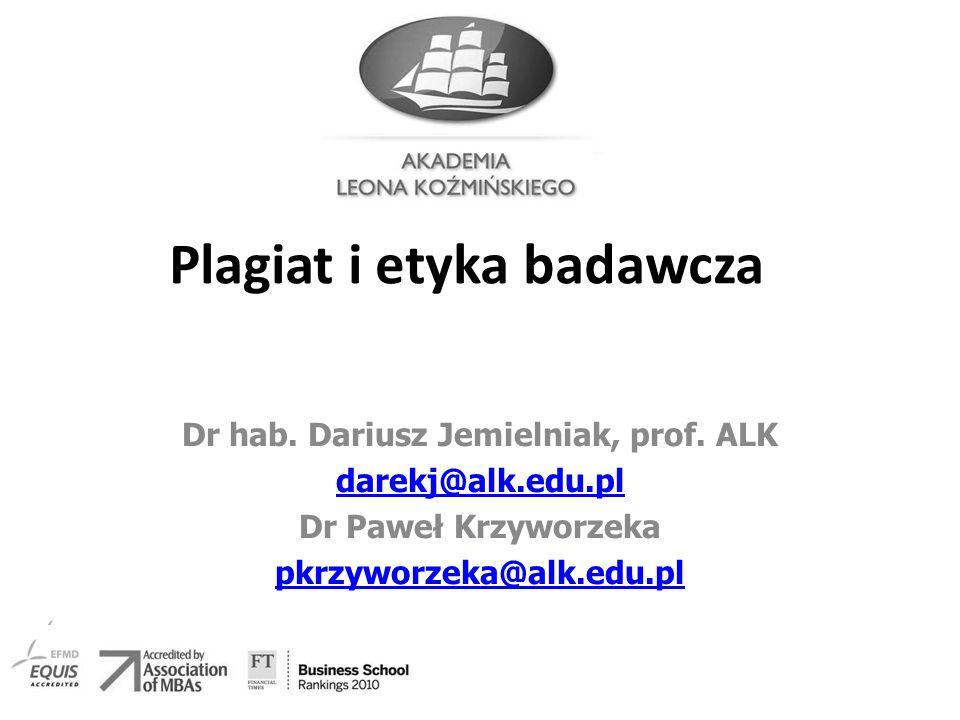 Plagiat i etyka badawcza