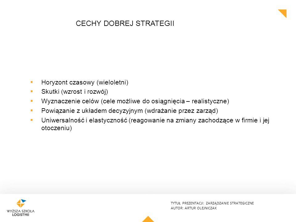 Cechy dobrej strategii