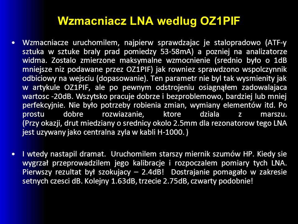 Wzmacniacz LNA wedlug OZ1PIF
