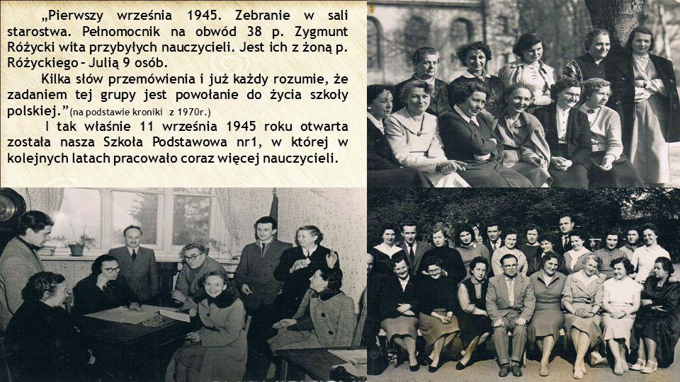 """""""Pierwszy września 1945. Zebranie w sali starostwa"""