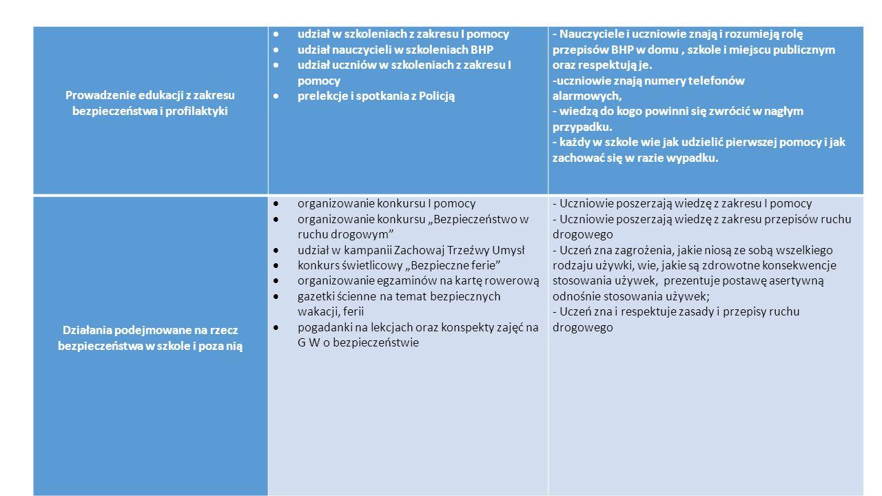 Prowadzenie edukacji z zakresu bezpieczeństwa i profilaktyki