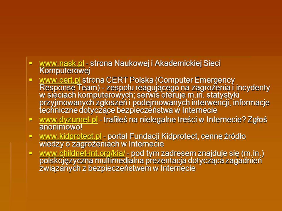 www.nask.pl - strona Naukowej i Akademickiej Sieci Komputerowej