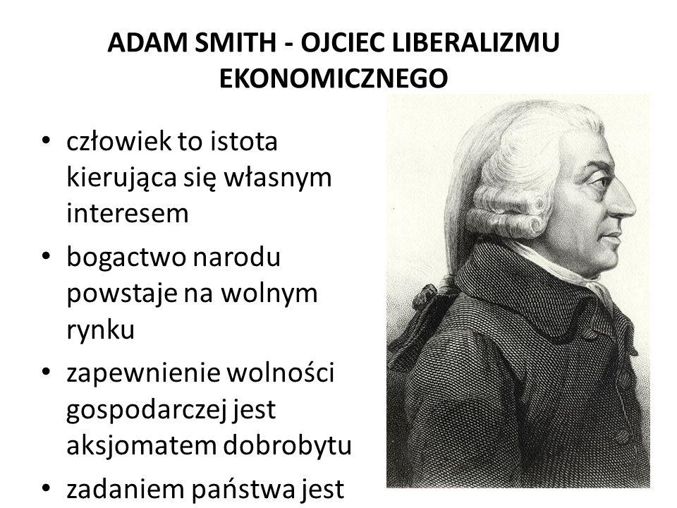 ADAM SMITH - OJCIEC LIBERALIZMU EKONOMICZNEGO