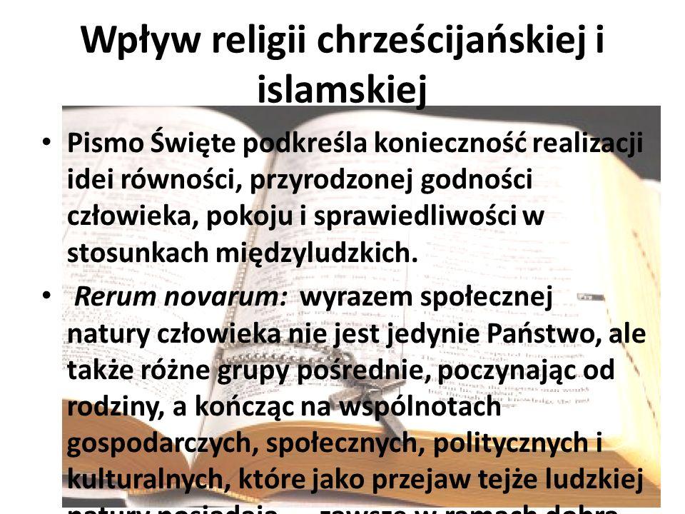 Wpływ religii chrześcijańskiej i islamskiej