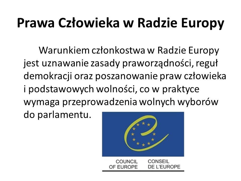 Prawa Człowieka w Radzie Europy