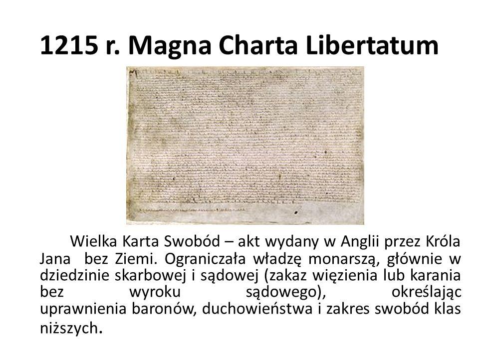 1215 r. Magna Charta Libertatum