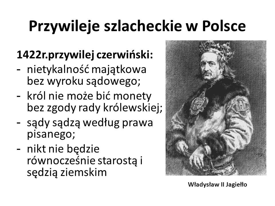 Przywileje szlacheckie w Polsce