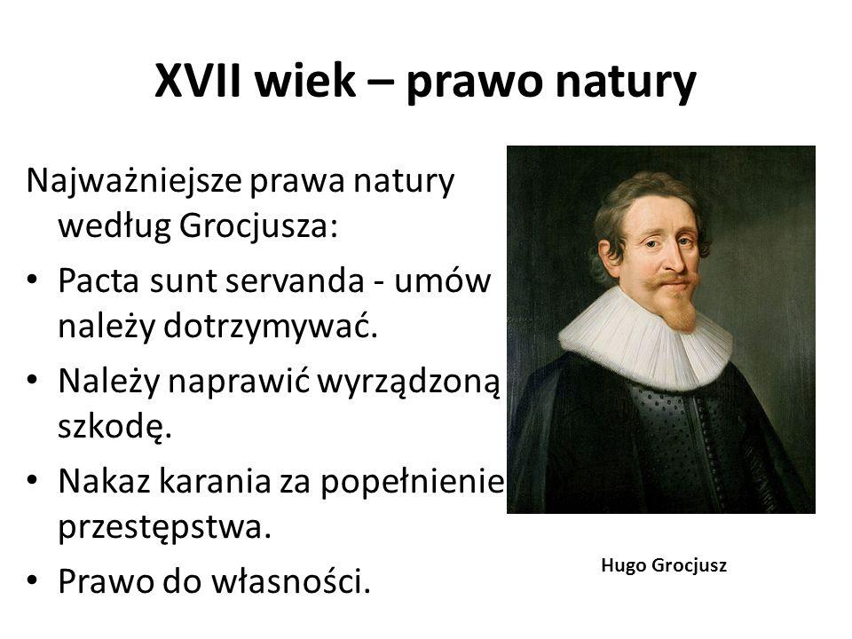 XVII wiek – prawo natury