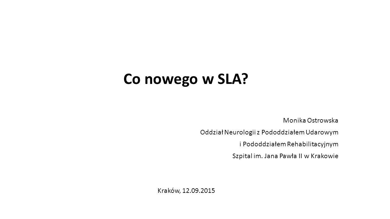 Co nowego w SLA Monika Ostrowska