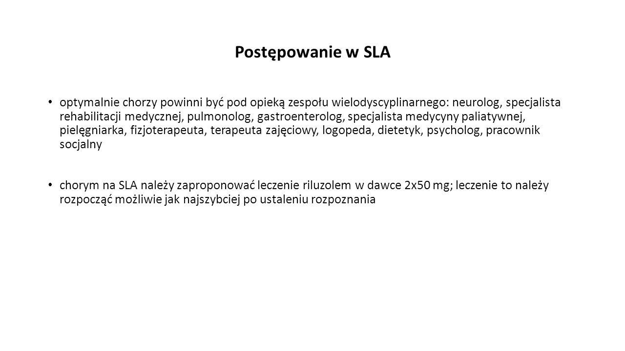 Postępowanie w SLA