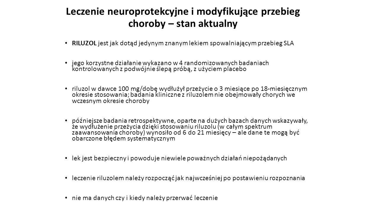 Leczenie neuroprotekcyjne i modyfikujące przebieg choroby – stan aktualny