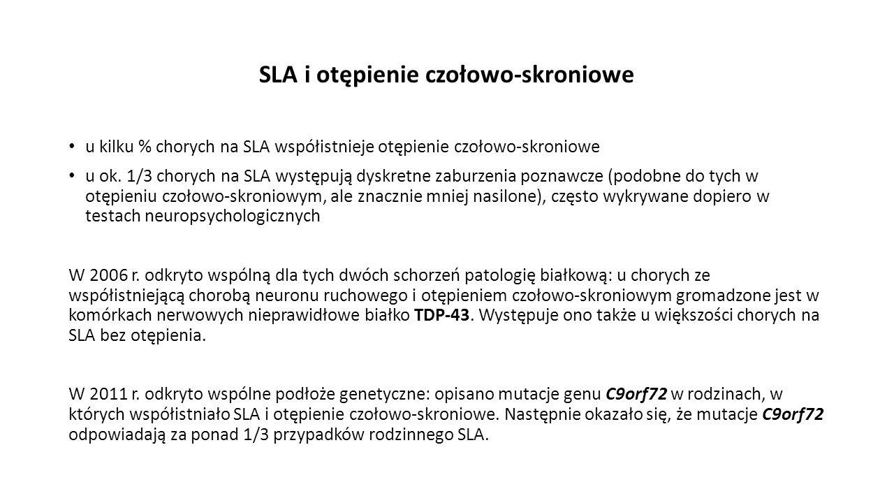 SLA i otępienie czołowo-skroniowe