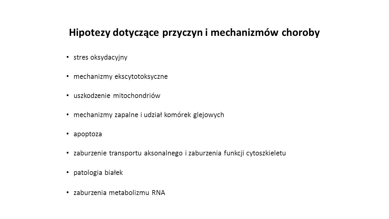 Hipotezy dotyczące przyczyn i mechanizmów choroby