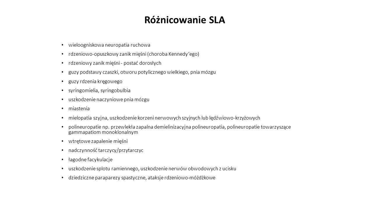 Różnicowanie SLA wieloogniskowa neuropatia ruchowa
