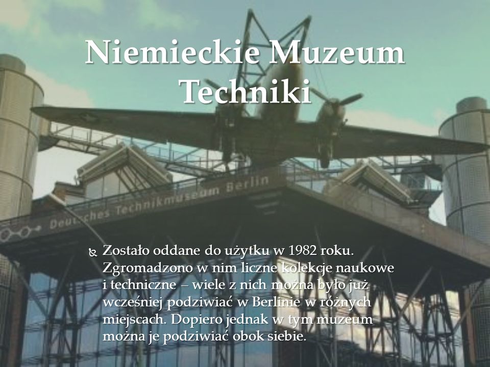 Niemieckie Muzeum Techniki