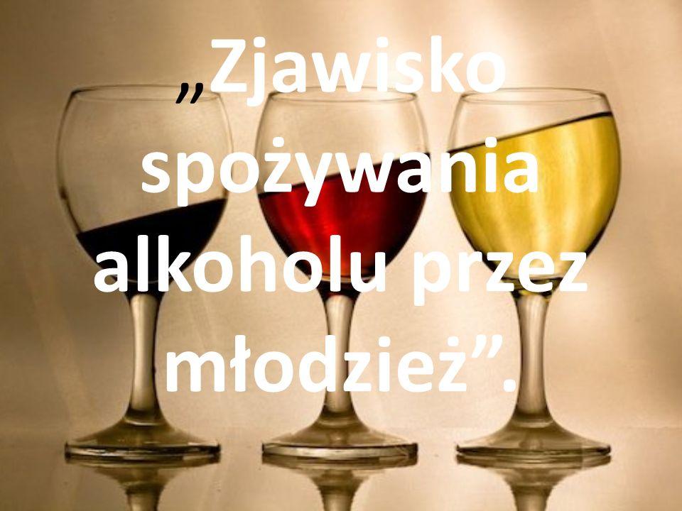 """""""Zjawisko spożywania alkoholu przez młodzież ."""