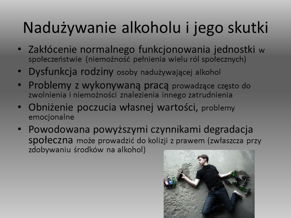 Nadużywanie alkoholu i jego skutki