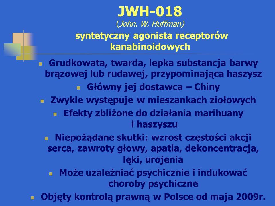 JWH-018 (John. W. Huffman) syntetyczny agonista receptorów kanabinoidowych