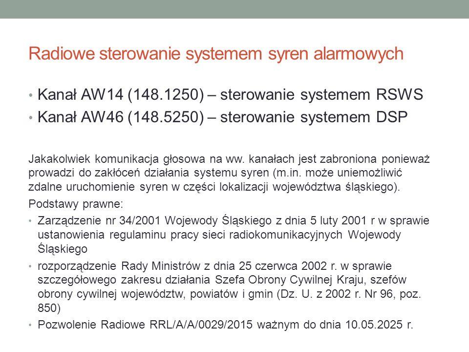 Radiowe sterowanie systemem syren alarmowych