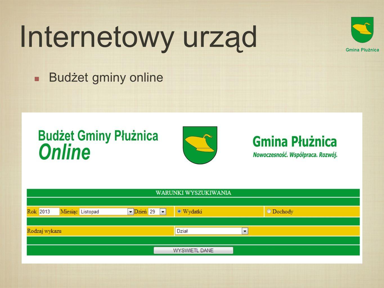 Internetowy urząd Gmina Płużnica Budżet gminy online