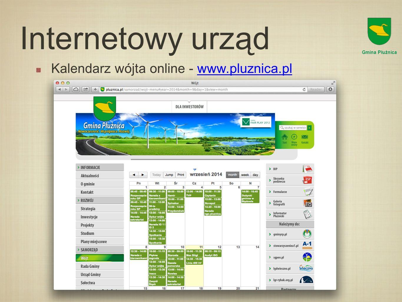 Internetowy urząd Kalendarz wójta online - www.pluznica.pl