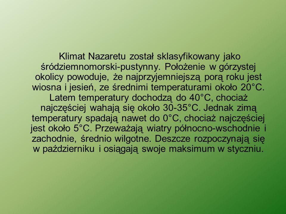 Klimat Nazaretu został sklasyfikowany jako śródziemnomorski-pustynny