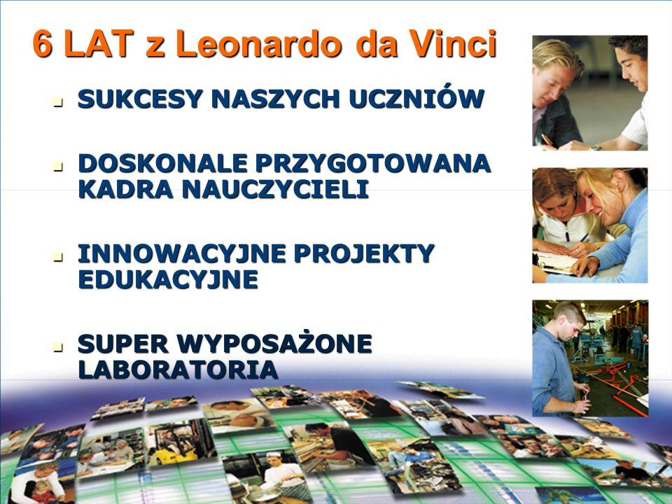 6 LAT z Leonardo da Vinci SUKCESY NASZYCH UCZNIÓW