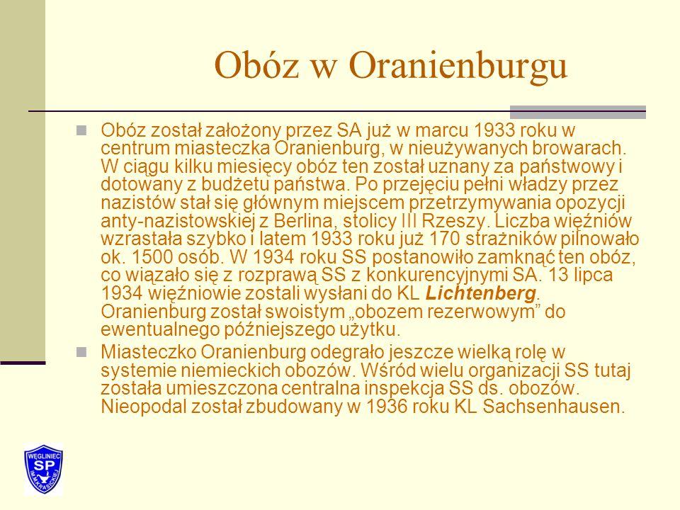 Obóz w Oranienburgu