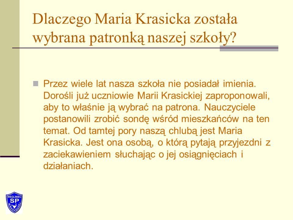 Dlaczego Maria Krasicka została wybrana patronką naszej szkoły