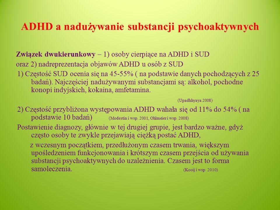 ADHD a nadużywanie substancji psychoaktywnych