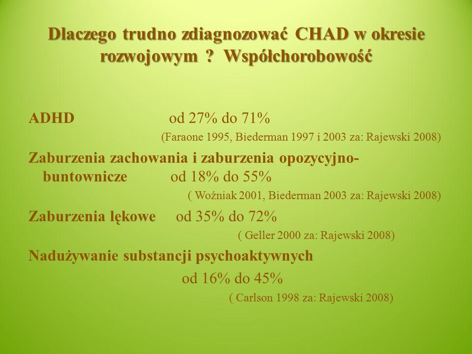 Dlaczego trudno zdiagnozować CHAD w okresie rozwojowym