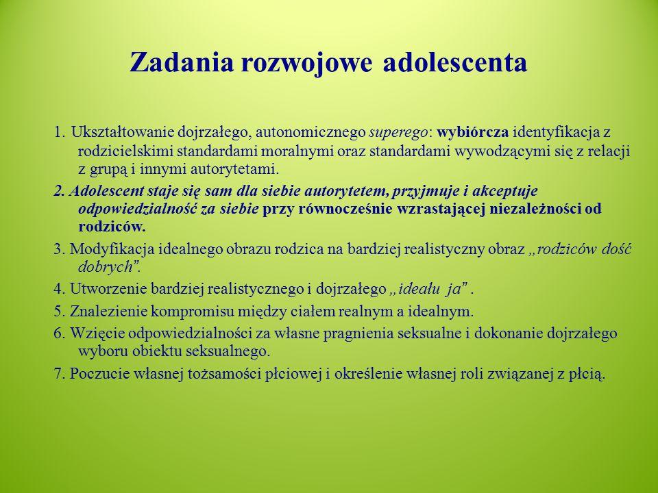 Zadania rozwojowe adolescenta