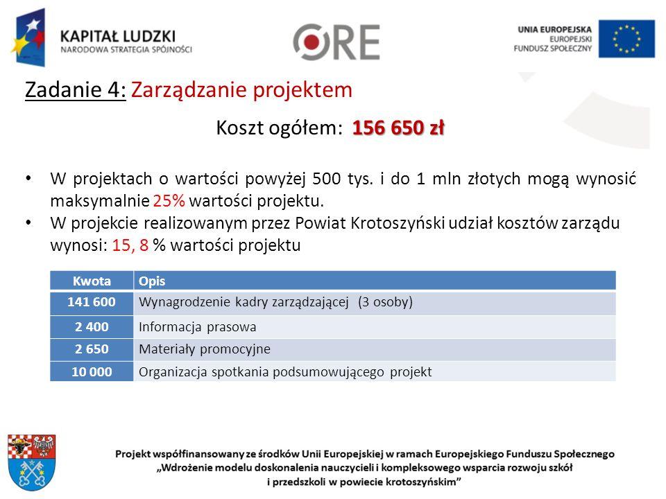 Zadanie 4: Zarządzanie projektem