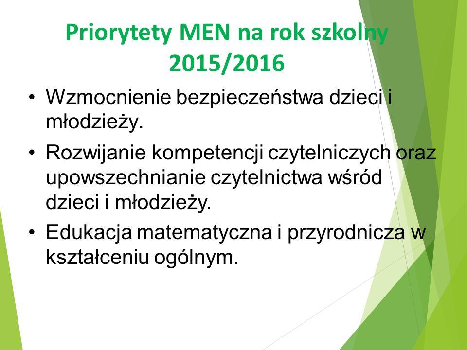 Priorytety MEN na rok szkolny 2015/2016