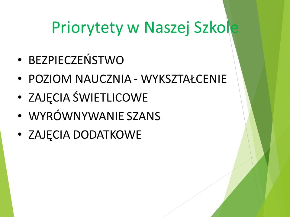 Priorytety w Naszej Szkole