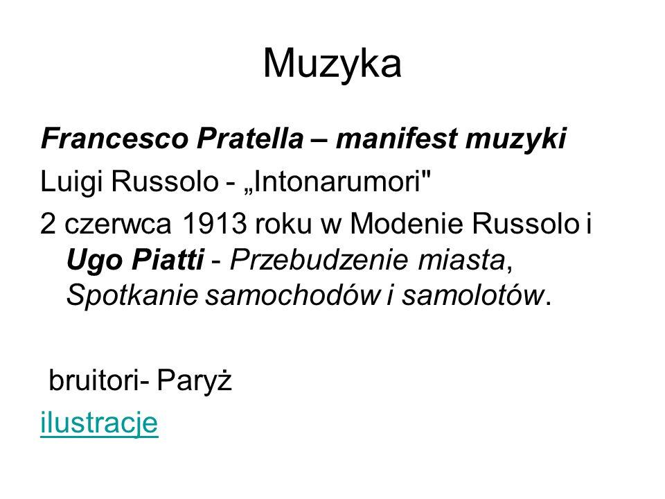 Muzyka Francesco Pratella – manifest muzyki