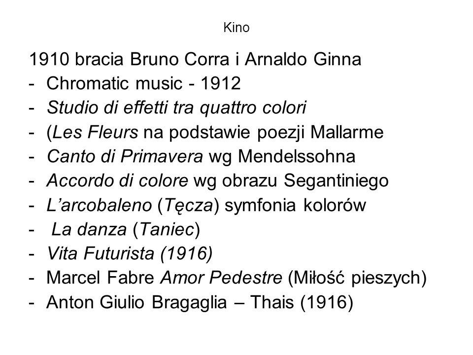 1910 bracia Bruno Corra i Arnaldo Ginna Chromatic music - 1912