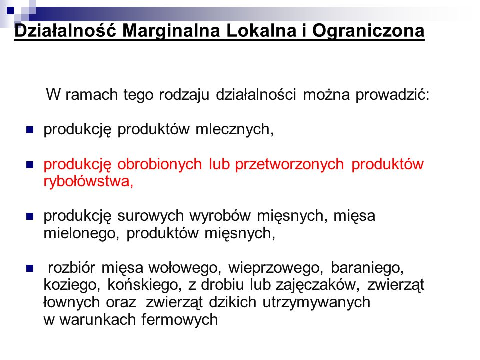 Działalność Marginalna Lokalna i Ograniczona