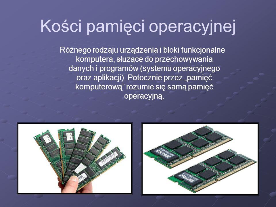 Kości pamięci operacyjnej