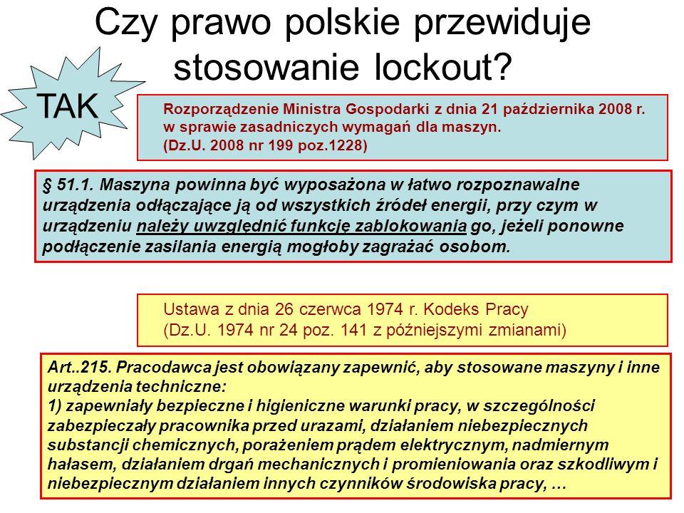 Czy prawo polskie przewiduje stosowanie lockout